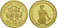1500 Francs Gold 2007, Togo, Aphrodite, PP  59,00 EUR kostenloser Versand