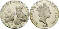 100 Dollars 1990, Cook Islands, 5 Unzen, 500 Jahre Amerika - Ferdinand ... 130,00 EUR kostenloser Versand