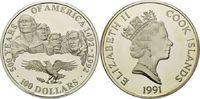 100 Dollars 1991, Cook Islands, 5 Unzen, 500 Jahre Amerika - Weißkopfse... 135,00 EUR kostenloser Versand