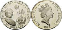 100 Dollars 1992, Cook Islands, 5 Unzen, 500 Jahre Amerika - Kolumbus u... 175,00 EUR kostenloser Versand