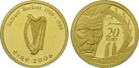 20 Euro Gold 2008, Irland, 1/25 Unze, Samuel Beckett, PP  74,00 EUR kostenloser Versand