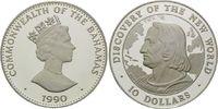 10 Dollars 1990, Bahamas, 500 Jahre Entdeckung Amerikas, Kolumbus vor L... 29,00 EUR kostenloser Versand