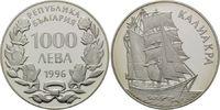 1000 Leva 1996, Bulgarien, Segelschiff, Barkentine 'Kaliakra', offene P... 26,00 EUR kostenloser Versand