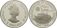 5 Dollars 1991, Cayman Inseln, 20 Jahre Währungsbehörde, Kreuzfahrtschi... 39,00 EUR kostenloser Versand