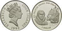 1 Dollar 1992, Cook Inseln, Geschichte der Seefahrt - Sir Francis Drake... 26,00 EUR kostenloser Versand