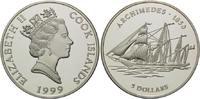 5 Dollars 1999, Cook Inseln, Geschichte der Seefahrt, Segelschiff 'Arch... 32,00 EUR kostenloser Versand