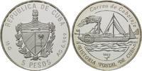5 Pesos 1993, Kuba, Postgeschichte Kubas, Raddampfer Almendares, offene... 23,00 EUR kostenloser Versand