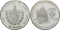 10 Pesos 1996, Kuba, 500 Jahre Entdeckung Amerikas, Caravelle, Amerigo ... 29,00 EUR kostenloser Versand