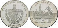 10 Pesos 1998, Kuba, Geschichte der Seefahrt, Dampfer 'Rio Bravo', Hamb... 29,00 EUR kostenloser Versand