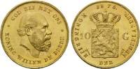 10 Gulden 1875, Niederlande, William III., 1849-1890, kl.Rdf., kl.Einhi... 262,00 EUR kostenloser Versand