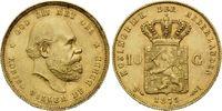 10 Gulden 1879, Niederlande, William III., 1849-1890, kl.Rdf., kl.Kr., ... 295,00 EUR kostenloser Versand