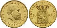 10 Gulden 1888, Niederlande, William III., 1849-1890, winz.Kr., kl.Rdf.... 300,00 EUR kostenloser Versand