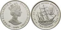 2 Pfund 1999, Falkland Inseln, 125. Geburtstag von Sheckleton, Segelsch... 39,00 EUR kostenloser Versand