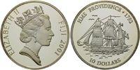 10 Dollars 2001, Fidschi, Fiji, Segelschiff HMS Providence 1792, PP  32,00 EUR kostenloser Versand
