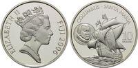 10 Dollars 2006, Fidschi, Fiji, Segelschiff Santa Maria - Columbus, PP  34,00 EUR kostenloser Versand