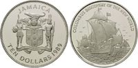 10 Dollars 2003, Jamaika, 500 Jahre Entdeckung Amerikas, Segelschiff, F... 32,00 EUR kostenloser Versand