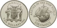 10 Dollars 1991, Jamaika, 500 Jahre Entdeckung Amerikas, Segelschiff 'P... 32,00 EUR kostenloser Versand