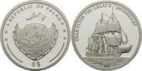 5 Dollars 2006, Palau, Geschichte der Seefahrt, Segelschiff Zar Peter d... 32,00 EUR kostenloser Versand