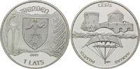 1 Lats 2001, Lettland, Hansestädte in Lettland, Cesis - Wenden, PP  39,00 EUR kostenloser Versand