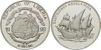 10 Dollars 1999, Liberia, Geschichte der Seefahrt, Segelschiff Vijia vo... 29,00 EUR kostenloser Versand