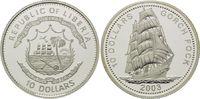 10 Dollars 2003, Liberia, Geschichte der Seefahrt, Segelschulschiff Gor... 25,00 EUR kostenloser Versand