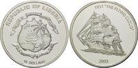 10 Dollars 2003, Liberia, Geschichte der Seefahrt, Segelschiff The Flyi... 37,00 EUR kostenloser Versand