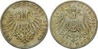 2 Mark 1901, Lübeck, Freie und Hansestadt, winz.Kr., vz-st  390,00 EUR kostenloser Versand