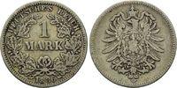 Mark 1886 G, Deutsches Kaiserreich, Kleinmünze, ss  25,00 EUR  zzgl. 6,40 EUR Versand