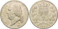 5 Francs 1820 A, Frankreich, Ludwig XVIII, Rf., f.ss  59,00 EUR kostenloser Versand