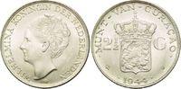 2,1/2 Gulden 1944 D, Curacao, Wilhelmina, niederländische Antillen, vz-... 36,00 EUR  zzgl. 6,40 EUR Versand