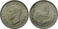 5 Shilling 1951, Südafrika, Georg VI, Springbock, vz  18,00 EUR  zzgl. 6,40 EUR Versand