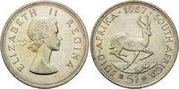 5 Shilling 1951, Südafrika, Elisabeth II, Springbock, vz  18,00 EUR  zzgl. 6,40 EUR Versand