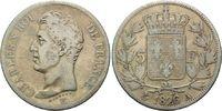 5 Francs 1826 A, Frankreich, Charles X, Mzz. Paris, s+/f.ss  45,00 EUR  zzgl. 6,40 EUR Versand
