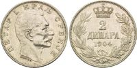 2 Dinar 1904, Serbien, Peter I., f.vz  19,00 EUR  zzgl. 6,40 EUR Versand