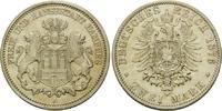 2 Mark 1876 A, Hamburg, Freie und Hansestadt, f.vz  186,00 EUR kostenloser Versand