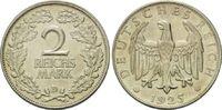 2 Mark 1925 D, Weimarer Rep., Kursmünze, vz-f.st  39,50 EUR  zzgl. 6,40 EUR Versand
