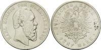 5 Mark 1876 F, Württemberg, Karl, Kr., Einstiche, s/ss  59,00 EUR kostenloser Versand