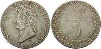 2/3 Taler 1828 C, Hannover, Georg IV., 1820-1830, s  45,00 EUR  zzgl. 6,40 EUR Versand