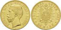20 Mark 1881 A, Reuss, jüngere Linie, Heinrich XIV., 1867-1913, ss-vz  6300,00 EUR kostenloser Versand
