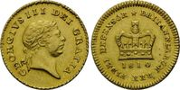 1/3 Guinea 1810, Großbritannien, Georg III., 1760-1820, kl.Kr., vz-f.st  590,00 EUR kostenloser Versand