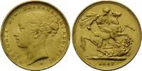 Sovereign 1887 S, Australien, Victoria, 1837-1901, kl.Rdf., kl.Kr., vz-... 490,00 EUR kostenloser Versand