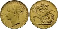 Sovereign 1886 M, Australien, Victoria, 1837-1901, winz.Rdf., kl.Kr., v... 490,00 EUR kostenloser Versand