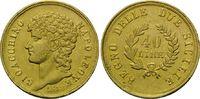 40 Lire 1813 Italien: Neapel, Joachim Murat, 1808-1815, Prüfspur, ss-vz  1375,00 EUR kostenloser Versand