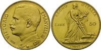 50 Lire 1912 R, Italien, Vittorio Emanuele III., 1900-1946, winz.Kr., st  1725,00 EUR kostenloser Versand