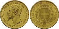 20 Lire 1855, Italien, Vittorio Emanuele II., 1849-1861, kl.Kr., vz-st  380,00 EUR kostenloser Versand