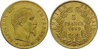 5 Francs 1860 BB, Frankreich, Napoleon III., 1852-1870, fein.Haarl., wi... 165,00 EUR kostenloser Versand