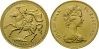 5 Pounds 1977, Isle of Man, Wikinger zu Pferd, winz.Kr., st  1690,00 EUR kostenloser Versand