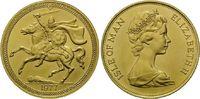 2 Pounds 1977, Isle of Man, Wikinger zu Pferd, kl.Fleck am Rd., st  730,00 EUR kostenloser Versand