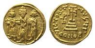 AV Solidus CONOB = Konstantinopel, Officin G,  Byzanz, Heraclius, 610-6... 545,00 EUR