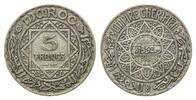 5 Francs AH 1352 =1933, Marokko, Mohammed V., 1927-1955, ss  18,00 EUR kostenloser Versand